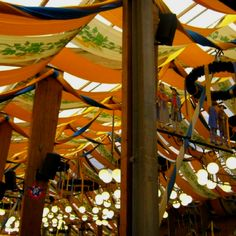 Oktoberfest tent style idea
