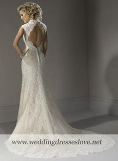 Wedding Dress Bernadette  Gorgeous back and I love the sleeves