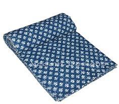 Vedant Designs Hand Indigo Blue Kantha Quilt Twin Bedspre... https://smile.amazon.com/dp/B06XQHR79W/ref=cm_sw_r_pi_dp_U_x_BAUsAbHS1YQ54