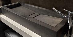 Bacha de apoyo rectangular con doble pendiente