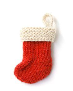 Garter Cuff Stocking Ornament (Knit)