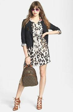 Eliza J Shirtdress & MICHAEL Michael Kors Backpack  available at #Nordstrom
