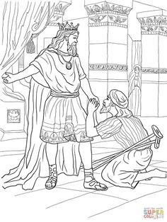 Jonathan Warns David coloring page from King David