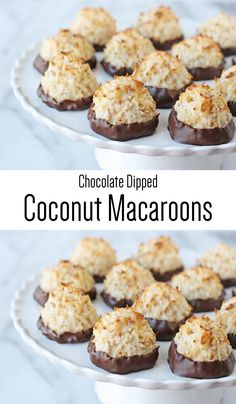 Chocolate Dipped Coconut Macaroons!! YUM.