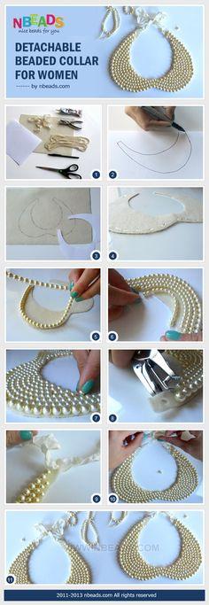 DIY detachable beaded collar for women.  Iove this, so pretty!