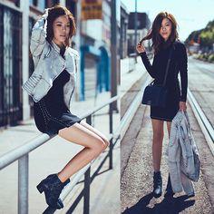 Jenny Tsang - Guess? Jacket, Guess? Dress - New-Age
