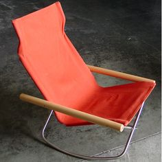More than 50 years after its creation, the Ny Rocking Chair remains innovative for three reasons. First, the design takes a modern approach to the rocki. House Furniture Design, House Design, Outdoor Chairs, Outdoor Furniture, Trendy Furniture, Outside Living, Traditional Looks, Chair Fabric, Folding Chair