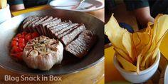 carne de Sol + alho +chips Restaurante Mocotó  do Chef Rodrigo Oliveira! Comida nordestina preparada com muita qualidade! Confira a dica: http://www.snackinbox.com.br/mocoto-com-amigos-festa-para-os-paladares/