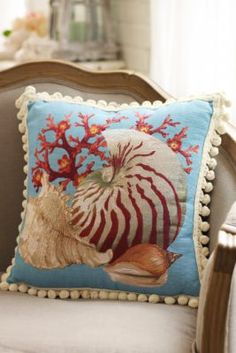 Beachside Tapestry Pillow from Soft Surroundings