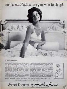 Maidenform Sleep Bra Bed Time Story Ruffles Bed (1962)