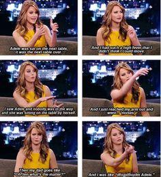 Jennifer Lawrence fangirling over Adele.