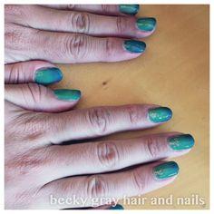 Becky gray hair and nails aloha bay bay and elsa glitter