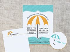Umbrella Baby Shower Free Printable Set