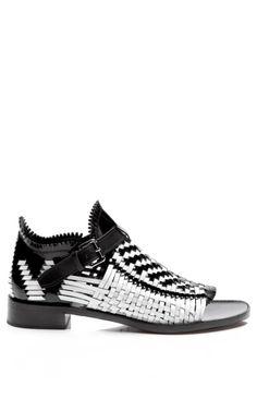 Basket Weave Flat Sandal by Proenza Schouler for Preorder on Moda Operandi