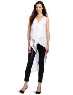 Amazon.com: BCBGMAXAZRIA Women's Cyprien Hi-Lo Sleeveless Top: Clothing