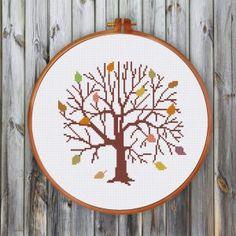 Autumn Tree cross stitch pattern