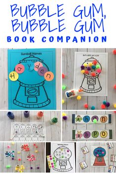 Preschool Letter G is for Gum- Book Companion for the book Bubble Gum Bubble Gum Letter G Activities, Preschool Letters, Learning Letters, Literacy Activities, Preschool Lesson Plans, Preschool Crafts, Preschool Activities, Bubble Activities, Preschool Curriculum
