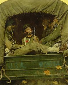"Hands up: who here has heard of ""Willie Gillis in Convoy?"" If you can't afford auction prices, visit our Museum store for related ""Willie Gillis"" products!  Norman Rockwell painting found in storage in Gardner heads to auction - The Boston Globe"