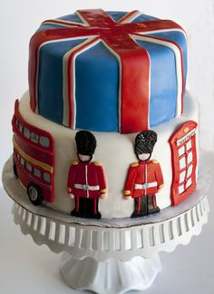 Two-Tiered Cake with Union Jack Top