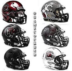 South Carolina Gamecocks helmets