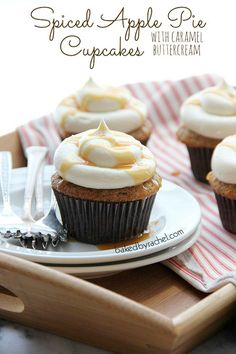 Spiced Apple Pie Cupcakes - Cupcake Daily Blog - Best Cupcake Recipes .. one happy bite at a time! Chocolate cupcake recipes, cupcakes