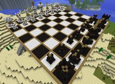 Massive chess board in minecraft!! Here's a question for you. How many squares are there on a chess board??
