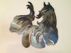 Half Horse Metal Wall Art Decor