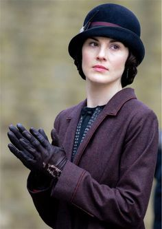Michelle Dockery (Lady Mary Crawley) appears on the set of 'Downton Abbey' season 5 in the town of Bampton in Oxfordshire, England on April ...