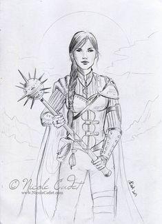 Sarah, the Cleric (Got Mace?) by NicoleCadet on deviantART