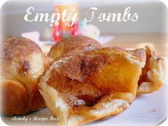 Empty Tombs {Marshmallow Delights} ...... These are perfect for an object lesson on Jesus Christs death and ressurection. You can explain what each step represents. The best is when you open the tomb and see that they are indeed empty.