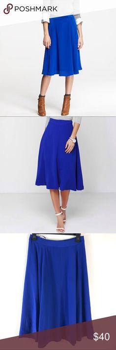 bca78ec5b8f NEW J. Crew Blue Liquid Silk A-Line Skirt NEW J. Crew Blue