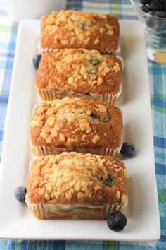 Blueberry Breakfast Bread made with wholesome ingredients! #blueberry, #muffins, #bread,