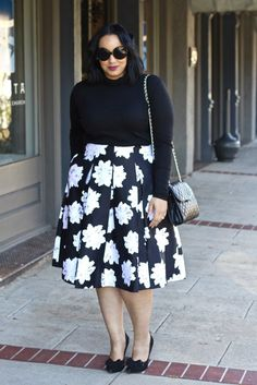 I love, love, love this Lane Bryant Floral Skirt {Winter 2016} but cannot find it on their website :-(