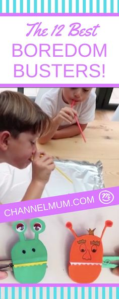"12 fun kids #games and ideas to entertain your kids when they come to you saying ""Mummy I'm bored!"""