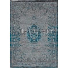 Louis De Poortere Fading World Rugs 8259 Jade Oyster - Free UK Delivery - The Rug Seller