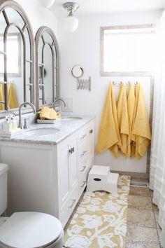 Remodelaholic | Updated Bathroom; Single Sink Vanity to Double Sink