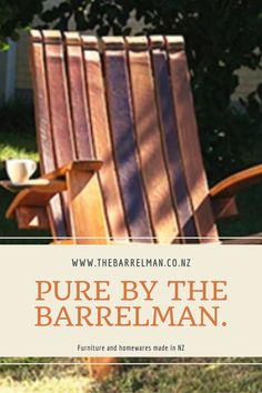 We so loved working with Tania from The Barrelman. Based in Rangiora, this business makes furniture and homewares from recycled oak barrels. They are sold at markets and now online. We were so honoured to work with Tania and help her work through how to get sales online. Outdoor Chairs, Outdoor Decor, Barrels, Small Businesses, Furniture Making, Recycling, San, Pure Products, Watch