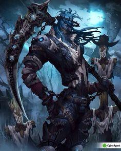 Muerte animada Fantasy Character Design, Character Concept, Character Art, Concept Art, Fantasy Monster, Monster Art, Dark Fantasy Art, Dark Art, Arte Obscura