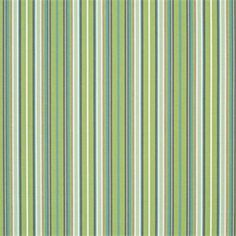 This is a green and light blue stripe outdoor fabric by Sunbrella. This fabric is perfect for any indoor or outdoor use. Suitable for drapery, upholstery, umbrellas, or marine upholstery.v234PADH