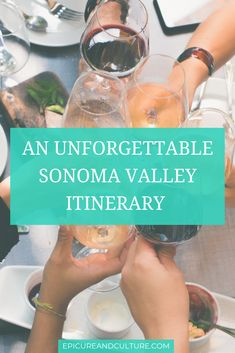 In this Sonoma Valley itinerary, you'll explore California wineries and more. Visit coastal redwood forest, beautiful beaches, farm to table restaurants, sip rose to support a cause and more!  // #SonomaValley #CaliforniaWineries #CoastalRedwood #BeautifulBeaches #FarmToTable