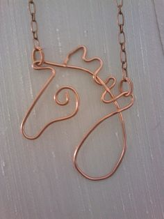Wire horse in copper