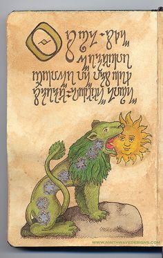 Alchemy Notebook: Green Lion by Ninth Wave Designs, via Flickr