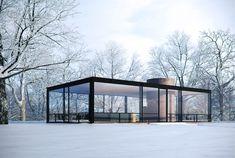 Стеклянный Дом,Нью-Канаан, Коннектикут, США, 1949 / Glass house, New Canaan, Connecticut, USA, 1949.
