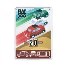 Fiat 500 Perpetual Calendar Tricolor, x in. Fiat 500 Accessories, Tech Accessories, Fiat 500 Pop, Italy Magazine, Fiat Abarth, Steyr, Perpetual Calendar, Auto Design, Science Museum