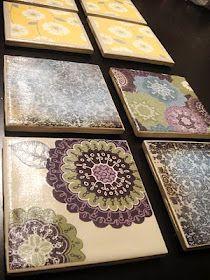 Scrapbooked Coasters