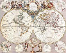 Antique Maps of the WorldMap of the WorldJohn Seneyc 1721 ...