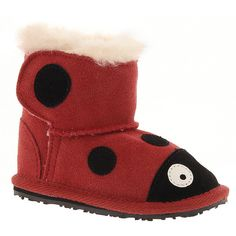 EMU Australia LC Walker Ladybird (Girls') (5520 RSD) ❤ liked on Polyvore featuring shoes, red, grip shoes, red shoes, breathable shoes, emu australia and leather upper shoes