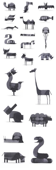 New Calligraphy Animals by Andrew Fox                                                                                                                                                      More