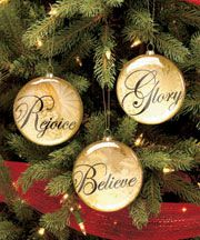 Set of 3 Inspirational Ornaments