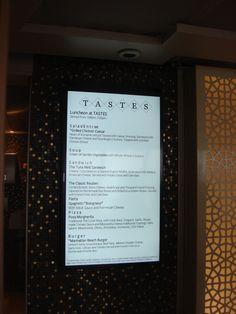 Crystal Cruises - Crystal Serenity, Tastes Restaurant Menu